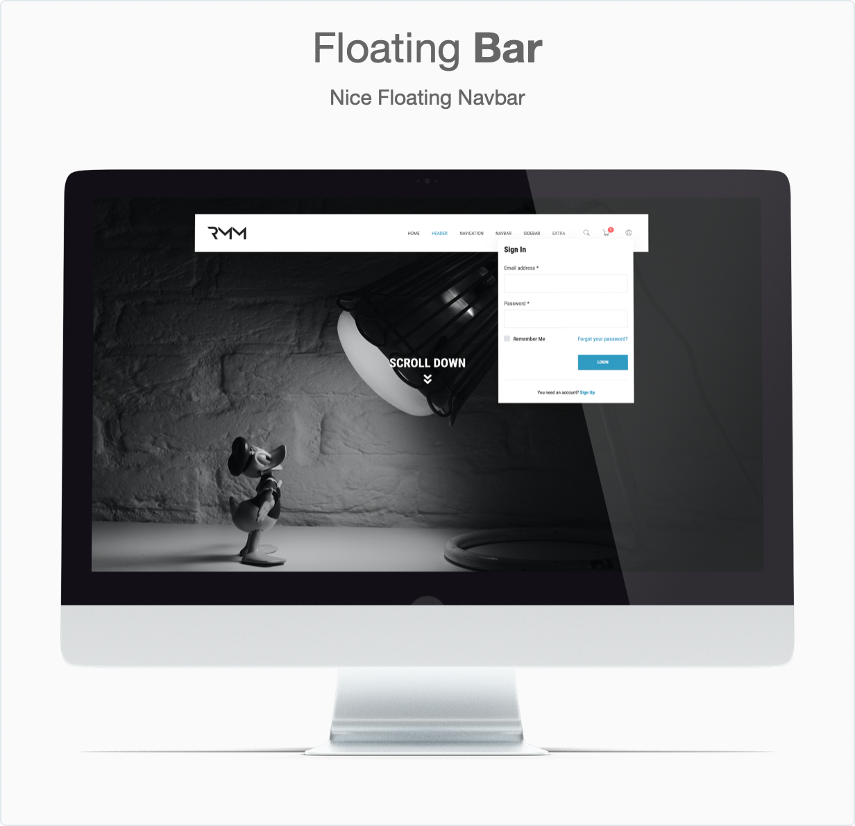 Responsive Bootstrap 4 Mega Dropdown Menu (RTL Supported) - Floating Bar