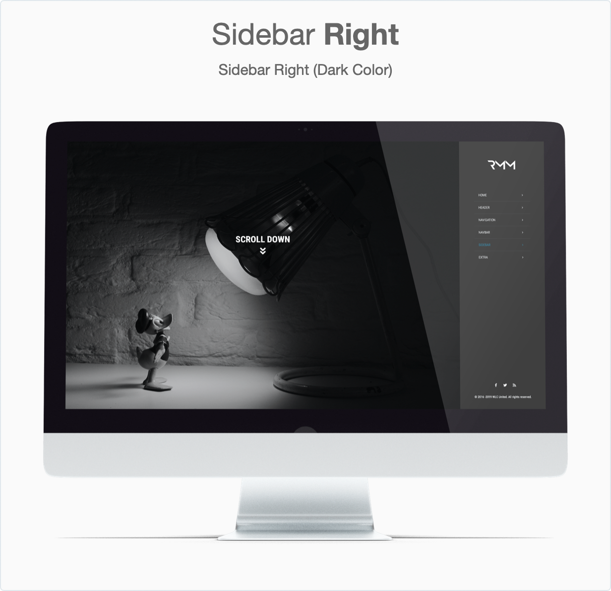 Responsive Bootstrap 4 Mega Dropdown Menu (RTL Supported) - Sidebar Right (Dark)