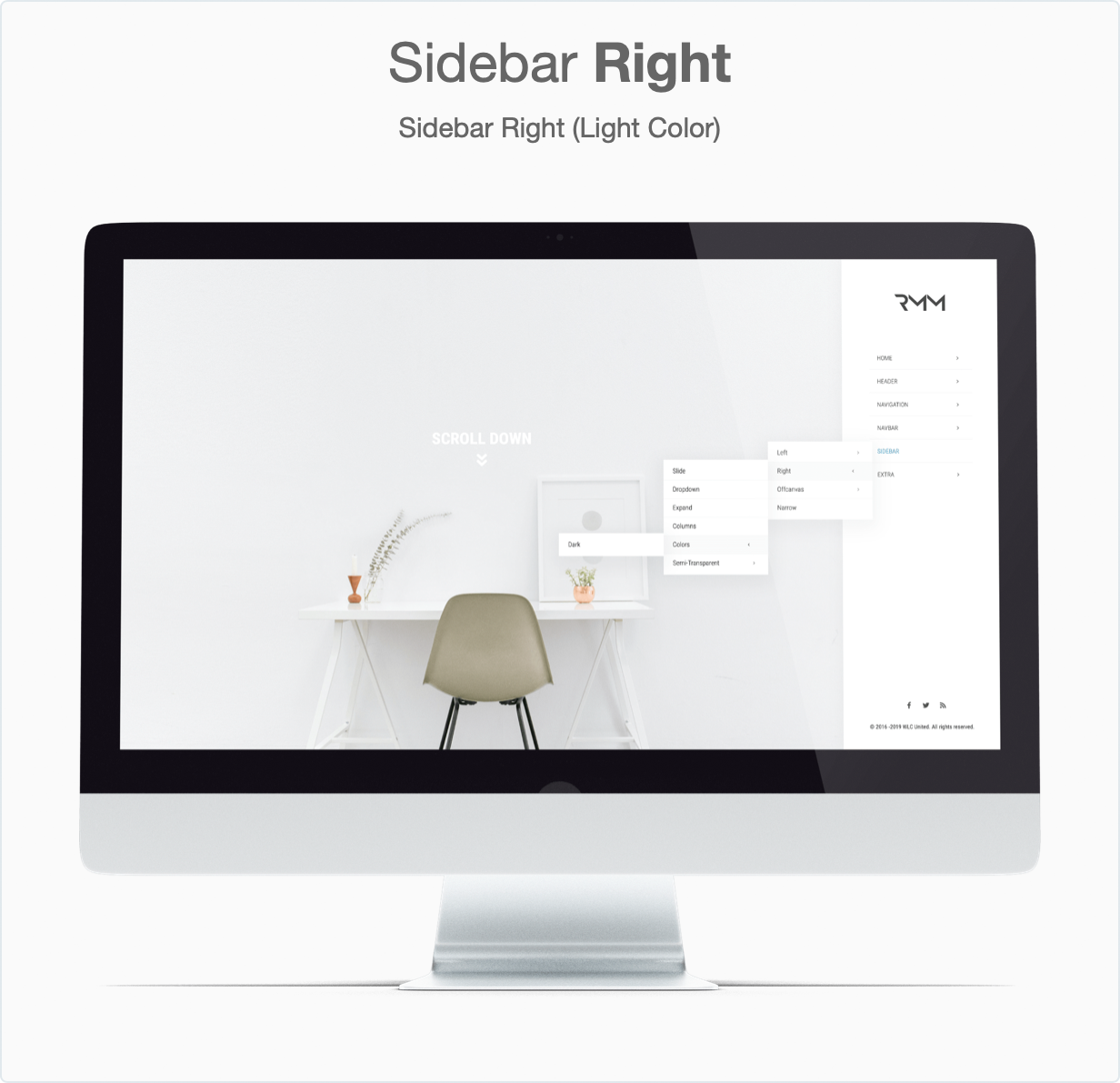 Responsive Bootstrap 4 Mega Dropdown Menu (RTL Supported) - Sidebar Right (Light)